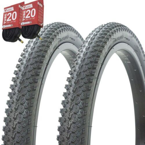 "1PAIR Bicycle Bike Tires /& Tubes 20/"" x 1.95/"" Black//Black Side Wall P-1197A"