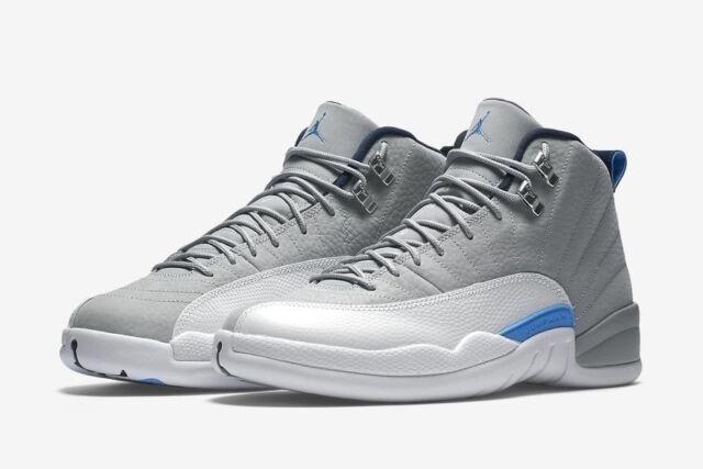 c3cd0fab707f Nike Air Jordan 12 Retro Size 2-9 UNC Wolf Grey University Blue White 130690