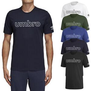 T shirt Uomo Umbro Mezza Manica Corta Maglietta Casual Maglia Sport 100% Cotone