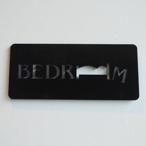 Black Bedroom Unique Missing OO Acrylic Door Sign