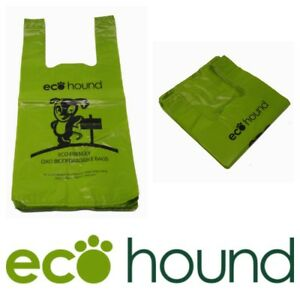 NEW-Ecohound-Moss-Green-Large-Vest-Type-Dog-Poo-Bags-Unscented-Poop-Bags