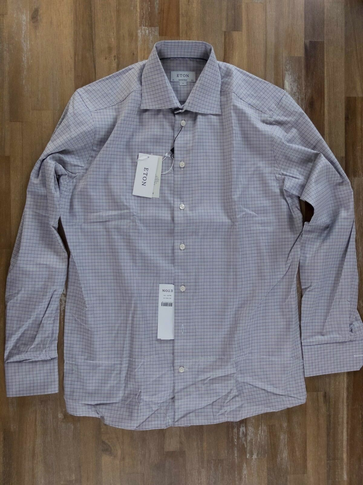 ETON of Sweden contemporary fit plaid shirt authentic - Size 39   15.5 - NWT