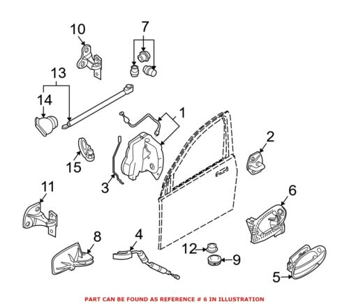 For BMW Genuine Exterior Door Handle Base Front Left Outer 51217126989