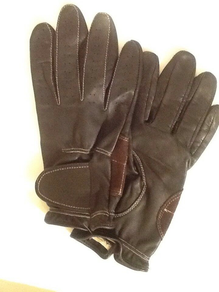 Profuomo Originale, Made In Italy, Leather Driving Gloves.