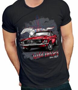 IndéPendant T-shirt Ford Mustang Us Muscle Car-t. 2xl Hommes-noir-afficher Le Titre D'origine PosséDer Des Saveurs Chinoises