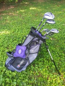 Us Kids Left Handed Ul 54 Wt 15u Purple Junior Golf Set 51 57 Height 7 Clubs Ebay