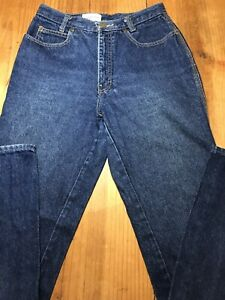 Calvin-Klein-Juniors-Size-11-Blue-Jeans-Long-Made-in-USA-Vtg-High-Waist