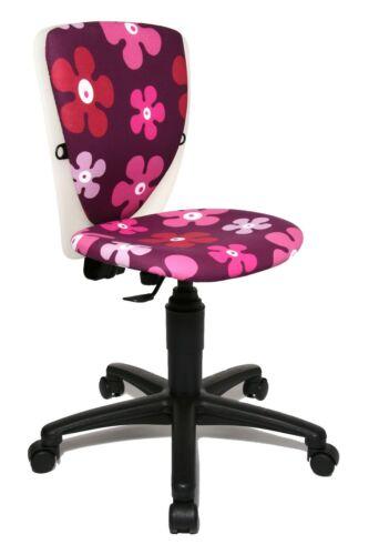 Kinder Drehstuhl Schreibtischstuhl Topstar S´cool 3 Flowers lila weiss B-Ware