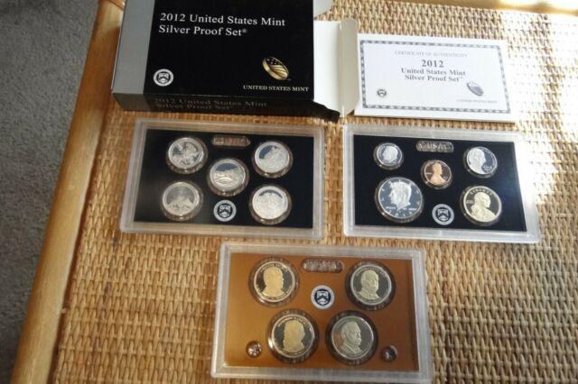 2012 US Mint Quarters Silver Proof Set | eBay
