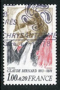 STAMP-TIMBRE-FRANCE-OBLITERE-N-1990A-CLAUDE-BERNARD-photo-non-contractuelle