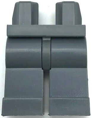 Lego New Pearl Dark Gray Hips Minifig Legs with Brown Belt Gun Holster Pants