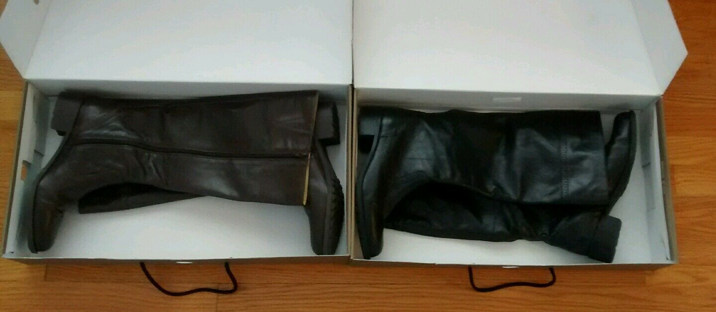 Worn 2x Lot of 2 pairs Easy Spirit LYNSKEY Women Leather Tall Riding Boots sz 10