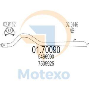 Mts 01.70090 De Escape Saab 900 2.0 Turbo 16V 175bhp 01//90-12//93
