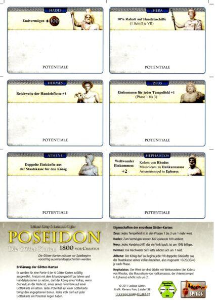 * Poseidon-ampliamento-gli Dei-carte-nuovo Incl. Regola/di Lookout Fissare I Prezzi In Base Alla Qualità Dei Prodotti
