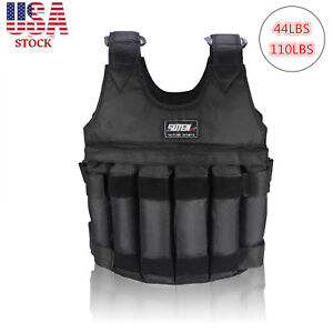 Adjustable-Workout-Weight-44LB-110LB-Weighted-Vest-Exercise-Training-Fitness-USA