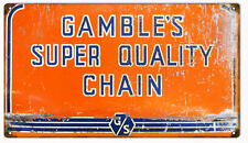 Gamble's Super Quality Chain Motor Oil Gas Sign Reproduction