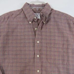 BROOKS-BROTHERS-Mens-Plaid-Sport-Shirt-Button-Up-Long-Sleeve-Size-L-Large