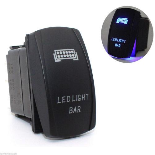 Car Motor Laser 12V 20A Toggle Rocker Switch Blue LED Bar Light Lamp Accessories