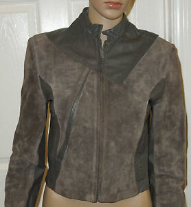 Wilsons-Genuine-Leather-amp-Suede-Gray-Jacket-Size-8