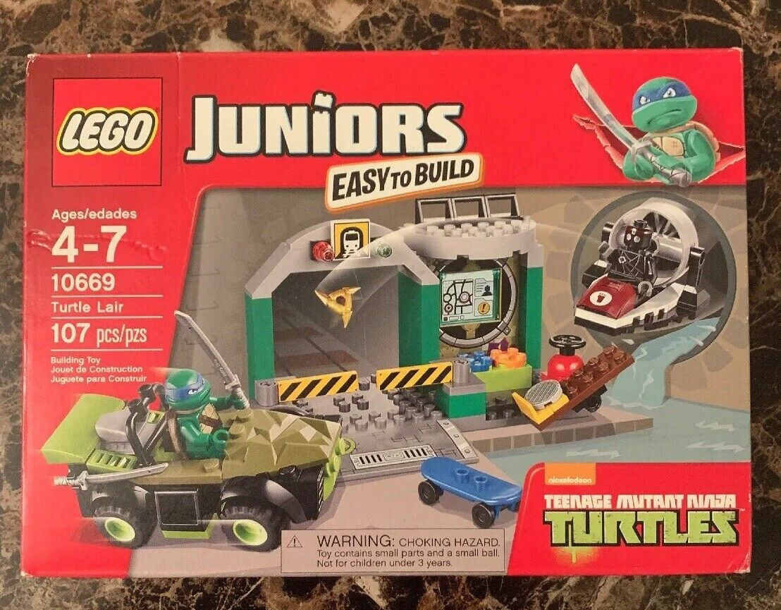 LEGO JUNIOR TURTLE LAIR 10669 NEW FACTORY SEALED
