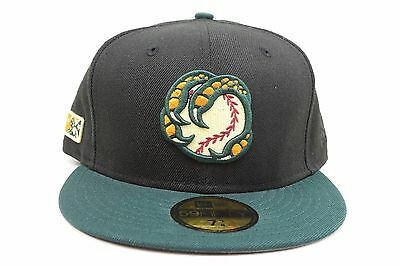 Boise Hawks Black Green Orange White MiLB New Era 59Fifty Fitted Hat e4ed943b57e