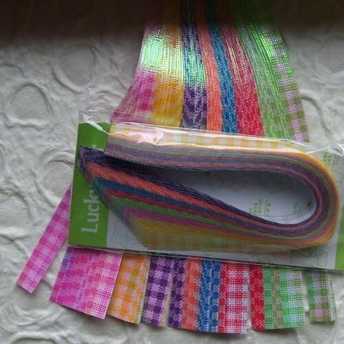 8MM 6 COLOURS TO CHOOSE FROM 70 STRIPS OF COLOURED PAPER
