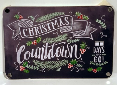 Advent Calendar Sign Christmas Chalk Style Dial by Primitives by Kathy NWT