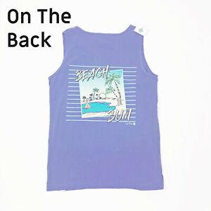 NWT-Jane-Marie-Tank-Top-Beach-Bum-Blue