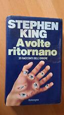 STEPHEN KING  A VOLTE RITORNANO  Prima edizione Sonzogno 1981  RARO
