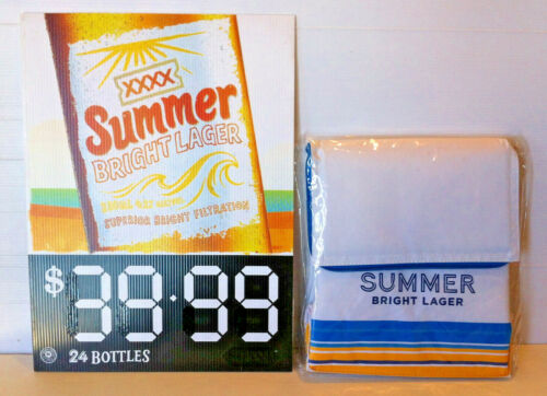 XXXX Gold Summer Bright Lager Cooler Bag & Advertising Corflute Display Sign