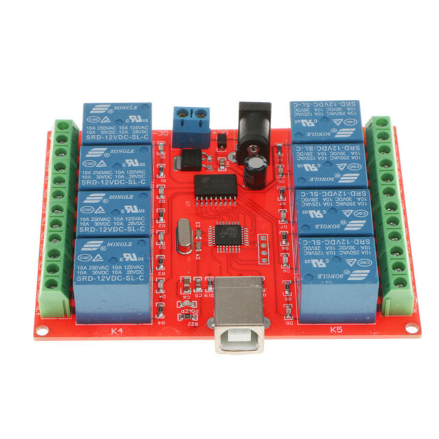 12v 8 Channel USB Relay Module USB Control Switch PC Intelligent Controller