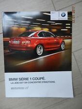 Catalogue BMW série 1 coupé 2010 + tarif septembre 2009