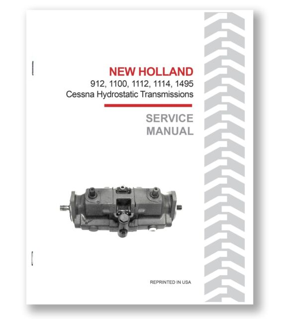 New Holland 1880 Self Propelled Harvester Hydrostatic Motor Service Manual CHPA