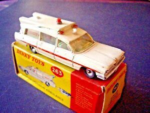Dinky Toys Ref 263 Ambulance Pontiac Super Critère Boite D'origine