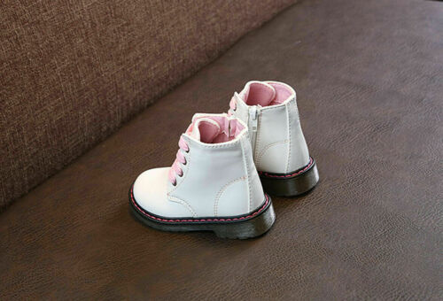 Toddler Girls Boys Winter Retro Fur Lined Snow Ankle Boots Warm Soft Soles Shoes