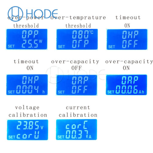 Battery capacity tester Constant current electronic load USB power discloser UK