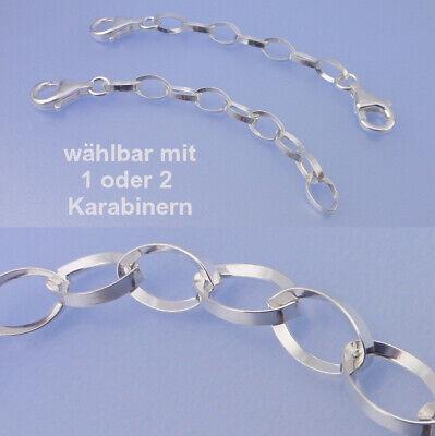 2 x 3cm 2 Verschlüsse Verlängerung Kette Armband 925er SterlingSilber nickelfrei