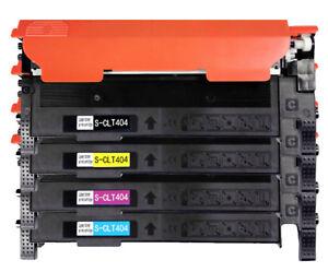 4Pk cartuccia di toner CLT-404S per Samsung Xpress C430 C430W C480 C480FW C480W