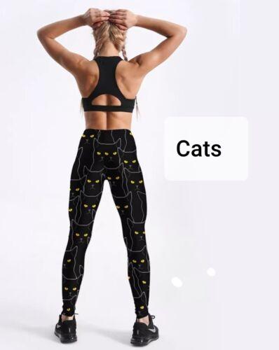 Nouveau Leggings//Sports//Yoga Pantalon 3D Numérique Imprimé Chats