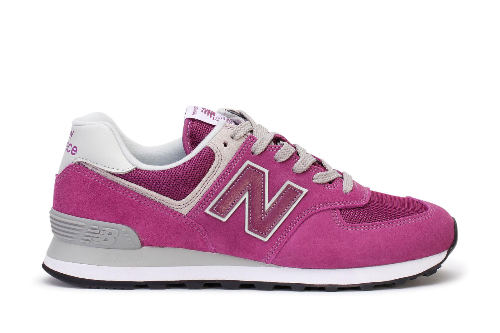 New Balance hombres' s corriendo Morado zapatillas 574 Core Plus Morado corriendo Blanco ml574etn 367144
