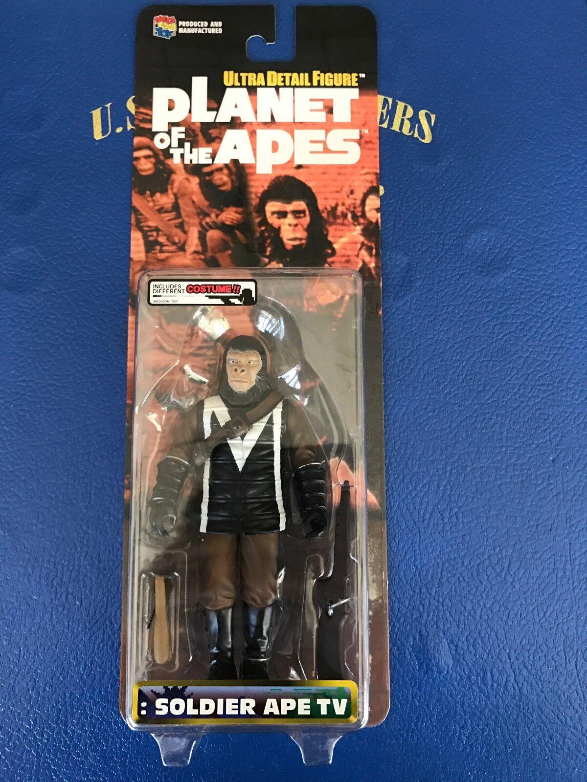 Planet of the Apes 6  action figure SOLDIER SOLDIER SOLDIER APE TV variant Medicom 2000 NISB 134c1a