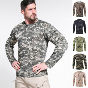 ESDY-Combat-T-shirt-Men-Long-Sleeve-Camouflage-Army-Tactical-Military-Casual-Tee