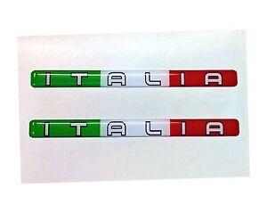 Details About 2x Stripe Flag 3d Emblem Stickers Italy Italia Tricolore Bike Helmet Show Original Title