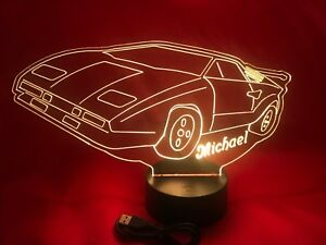 Lighting Car Lamp LED Light Up Night Light With Remote and Personalized Free Race Car