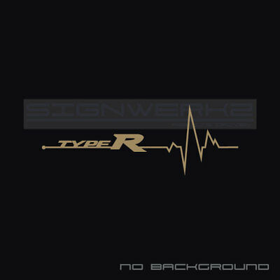 Civic heartbeat pulse Sticker left Racing Type R FK2 FK8 SI SIR Turbo VTEC Pair