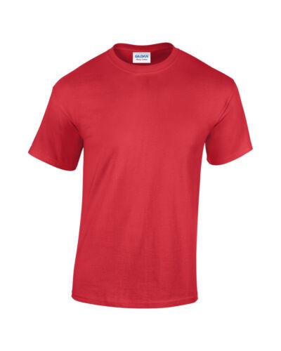New Gildan 100/% Heavy Cotton T-shirt 24 Colours!!