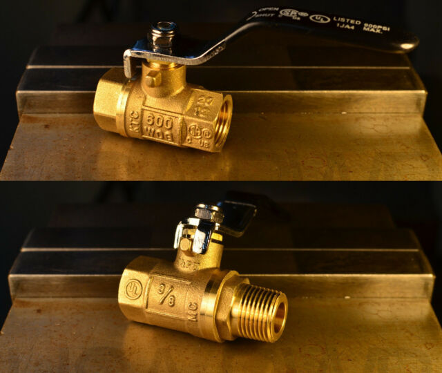 NPT BALL VALVE - ANY SIZE - MALE & FEMALE - SOLID BRASS AIR FITTINGS