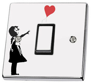 Banksy-Girl-with-Red-Heart-Balloon-Grafit-Light-Switch-Sticker-vinyl-cover-decal