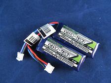 2 Turnigy Nanotech 300mah 2s 35c Batteries Lipo Eflb2002s25 UMX MIG Stryker