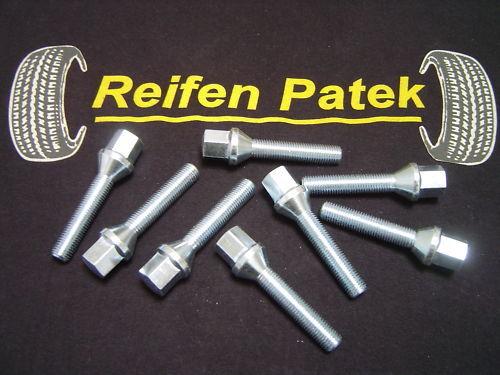 8x Radbolzen für Spurplatten Kegel M12x1,25x50 Alfa Romeo Peugeot Fiat Lancia